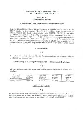 4.2019. (V. 31.) zárszámadási rendelet SO